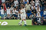 Real Madrid's Dani Carvajal (l) and Gareth Bale (r) celebrate goal during La Liga match. September 01, 2018. (ALTERPHOTOS/A. Perez Meca)