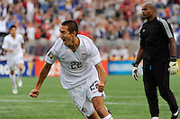 Davy Arnaud (22) of the United States (USA) celebrates scoring. The United States and Haiti played to a 2-2 tie during a CONCACAF Gold Cup Group B group stage match at Gillette Stadium in Foxborough, MA, on July 11, 2009. .