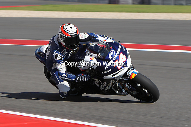 Randy De Puniet (14) in action during the Red Bull MotoGP of the Americas practice session at Circuit of the Americas racetrack in Austin,Texas. ..