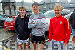 The down pore didn't deter Earnan Ferris, Nathan O'Driscoll and Odhran Ferris supporting the Ardfert Tractor Run fundraiser for the staff of UHK on Sunday.