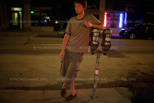 Scranton, Pennsylvania.July 30, 2012..Late at night, downtown Scranton...Photograph by Alan Chin.
