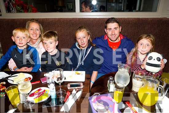 The White famoly from Tralee enjoying the evening in the Brogue Inn on Friday.<br /> Seated l to r: Shane, Triona, Adam, Ella, Liam and Katie White.