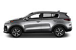 Car Driver side profile view of a 2021 KIA Sportage LX 5 Door suv Side View
