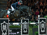 John Whitaker of United Kingdom riding Argento competes at the Hong Kong Jockey Club trophy during the Longines Hong Kong Masters 2015 at the AsiaWorld Expo on 13 February 2015 in Hong Kong, China. Photo by Juan Flor / Power Sport Images