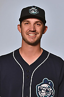 Asheville Tourists pitcher Kenny Oakley (17) poses for a photo at Story Point Media on April 4, 2017 in Asheville, North Carolina. (Tony Farlow/Four Seam Images)