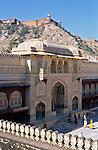India, Rajasthan, Jaipur: Amber Fort, former Royal Palace | Indien, Rajasthan, Jaipur: Amber Fort, ehemaliger Koenigspalast