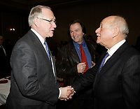 Montreal (Qc) CANADA - February 7  2011 -Gerald Tremblay, Mayor of Montreal<br />  (L), charles lapointe, President Tourisme Montreal