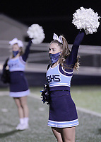 Har-Ber Wildcats cheerleaders perform before the first round play-off game against the Fort Smith Northside Grizzlies Friday, November 13, 2020, at Wildcat Stadium, Springdale, Arkansas (Special to NWA Democrat-Gazette/Brent Soule)