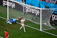 COPENHAGEN, DENMARK - JUNE 17 : Thorgan Hazard midfielder of Belgium celebrating goal during the 16th UEFA Euro 2020 Championship Group B match between Denmark and Belgium on June 17, 2021 in Copenhagen, Denmark, 17/06/2021  <br /> Photo Photonews / Panoramic / Insidefoto <br /> ITALY ONLY