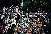 climbing out of the infamous Zonhoven 'Kuil' (or 'Pit')<br /> <br /> U23 race<br /> CX Super Prestige Zonhoven 2017