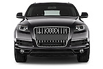 Car photography straight front view of a 2015 Audi Q7 - 5 Door Suv 2WD Front View