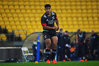 Maori's Josh Ioane kicks a conversion during the international rugby match between Manu Samoa and the Maori All Blacks at Sky Stadium in Wellington, New Zealand on Saturday, 26 June 2021. Photo: Dave Lintott / lintottphoto.co.nz