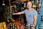 Aidan Turner in their bar on Tuesday morning.