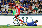 Chelsea Midfielder Cesc Fabregas (R) trips up with Bayern Munich Midfielder Franck Ribery (L) during the International Champions Cup match between Chelsea FC and FC Bayern Munich at National Stadium on July 25, 2017 in Singapore. Photo by Marcio Rodrigo Machado / Power Sport Images