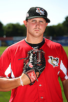 Tri-City ValleyCats pitcher Ryan Cole #22 poses for a photo before a game against the Batavia Muckdogs at Dwyer Stadium on July 15, 2011 in Batavia, New York.  Batavia defeated Tri-City 4-3.  (Mike Janes/Four Seam Images)
