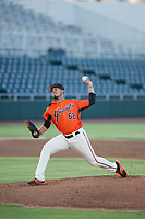 AZL Giants starting pitcher Deiyerbert Bolivar (62) delivers a pitch to the plate against the AZL Athletics on August 5, 2017 at Scottsdale Stadium in Scottsdale, Arizona. AZL Athletics defeated the AZL Giants 2-1. (Zachary Lucy/Four Seam Images)