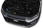 Car stock 2019 Hyundai Kona SEL AUTO 5 Door SUV engine high angle detail view