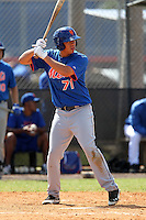 New York Mets second baseman Wilmer Flores #71 during a minor league spring training intrasquad game at the Port St. Lucie Training Complex on March 27, 2012 in Port St. Lucie, Florida.  (Mike Janes/Four Seam Images)