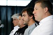 2017 Verizon IndyCar Series<br /> Honda Indy Grand Prix of Alabama<br /> Barber Motorsports Park, Birmingham, AL USA<br /> Sunday 23 April 2017<br /> Mark Miles, Michael Andretti, Fernando Alonso, Zak Brown press conference, Andretti Autosport<br /> World Copyright: Michael L. Levitt<br /> LAT Images<br /> ref: Digital Image levitt-0417-bmp_06028