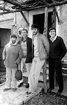 LUCIO DALLA, RON, FRANCESCOD GREGORI E GIANNI MORANDI <br /> ROMA 1980