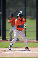GCL Astros Jose Mendoza (13) at bat during a Gulf Coast League game against the GCL Nationals on August 9, 2019 at FITTEAM Ballpark of the Palm Beaches training complex in Palm Beach, Florida.  GCL Nationals defeated the GCL Astros 8-2.  (Mike Janes/Four Seam Images)