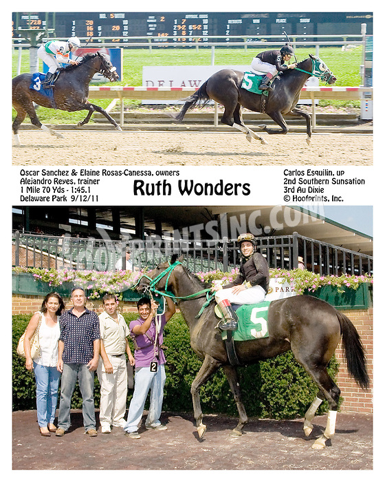 Ruth Wonders winning at Delaware Park on 9/12/11