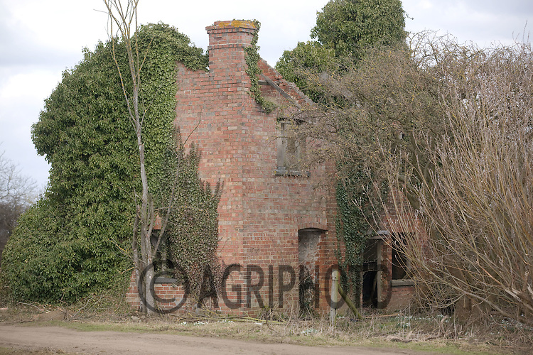 Disused and abandoned farm cottage