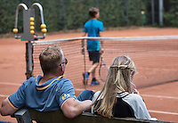 Hilversum, Netherlands, August 8, 2016, National Junior Championships, NJK, Parents looking at their kids match<br /> Photo: Tennisimages/Henk Koster