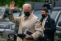 MAY 07 Joe Biden departs for Camp David