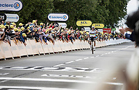 World Champion Julian Alaphilippe (FRA/Deceuninck - QuickStep) wiining his first race back after becoming a first time dad only 2 weeks earlier<br /> <br /> Stage 1 from Brest to Landerneau (198km)<br /> 108th Tour de France 2021 (2.UWT)<br /> <br /> ©kramon