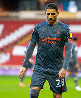 21st November 2020, Oakwell Stadium, Barnsley, Yorkshire, England; English Football League Championship Football, Barnsley FC versus Nottingham Forest; Anthony Knockaert of Nottingham Forrest makes his way to take a corner