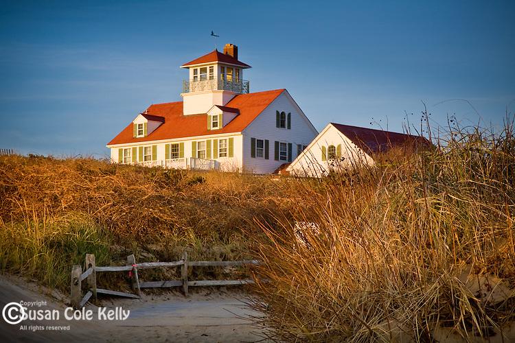 The old Coast Guard Station at Coast Guard Beach, Cape Cod National Seashore, Eastham, MA, USA