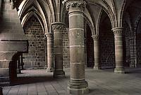 Europe/France/Normandie/Basse-Normandie/50/Manche/Mont Saint-Michel: La salle des chevaliers