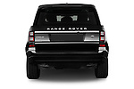 Straight rear view of a 2015 Land Rover RANGE ROVER Vogue 5 Door SUV Rear View  stock images