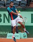Fabio Fognini (ITA) loses  at Roland Garros in Paris, France on June 1, 2012