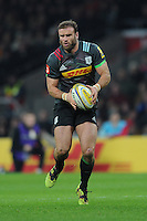 Jamie Roberts of Harlequins during the Aviva Premiership Rugby match between Harlequins and Gloucester Rugby at Twickenham Stadium on Tuesday 27th December 2016 (Photo by Rob Munro/Stewart Communications)