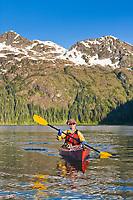 Sea kayaking, Copper Bay, Knight Island, Prince William Sound, AlaskaSea kayaking, Copper Bay, Knight Island, Prince William Sound, Alaska