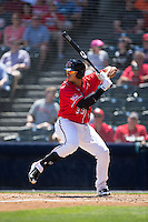 Ricky Oropesa (33) of the Richmond Flying Squirrels at bat against the Bowie Baysox at The Diamond on May 24, 2015 in Richmond, Virginia.  The Flying Squirrels defeated the Baysox 5-2.  (Brian Westerholt/Four Seam Images)
