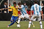 Friendly soccer match Argentina Vs Brasil In New Jersey