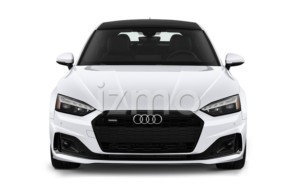 Car photography straight front view of a 2020 Audi A5-Sportback Premium-plus 5 Door Hatchback Front View