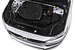 Car Stock 2017 Volvo S90 Inscription 4 Door Sedan Engine  high angle detail view