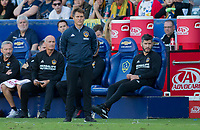 CARSON, CA - SEPTEMBER 29: Manager Guillermo Barros Schelotto of the Los Angeles Galaxy looks on during a game between Vancouver Whitecaps and Los Angeles Galaxy at Dignity Health Sports Park on September 29, 2019 in Carson, California.