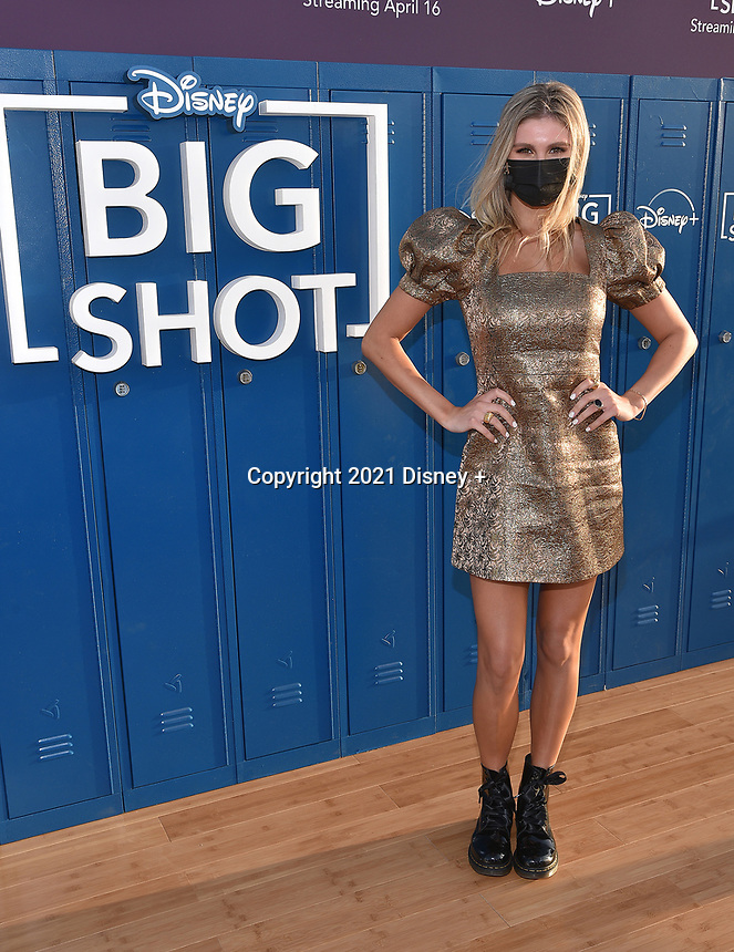 """LOS ANGELES, CA - APRIL 14: Cricket Wampler attends the world premiere drive-in screening of the Disney + original series """"BIG SHOT"""" at The Grove in Los Angeles, California on April 14, 2021. (Photo by Stewart Cook/Disney +/PictureGroup)"""