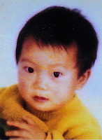 Wang Qingqing (2), born in 2002. Missing at a road crossing in Zhengzhou, Henan Province on 24 Sep 2004.   Girls in China are increasingly targeted and stolen as there is a shortage of wives as the gender imbalance widens with 120 boys for every 100 girls...PHOTO BY SINOPIX