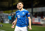Dundee v St Johnstone…29.12.18…   Dens Park    SPFL<br />Liam Craig celebrates his goal on the day that he beat Alan Main's appearance record and is now only second to Steven Anderson<br />Picture by Graeme Hart. <br />Copyright Perthshire Picture Agency<br />Tel: 01738 623350  Mobile: 07990 594431