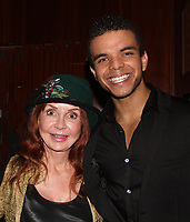 General Hospital's Jacklyn Zeman poses with Blaine Krauss (starred in Kinky Boots and now stars in The Cher Show - Jacklyn went to see this show while in NYC at The Neil Simon Theatre on Broadway) who received The Shining Star Award - The 31st Annual Jane Elissa Entertainment Extravaganza to benefit Leukemia, Cancer Research and Broadway Cares Equity Fights Aids on November 5, 2018 at the New York Marriott Marquis, New York City, New York.  (Photo by Sue Coflin/Max Photos)