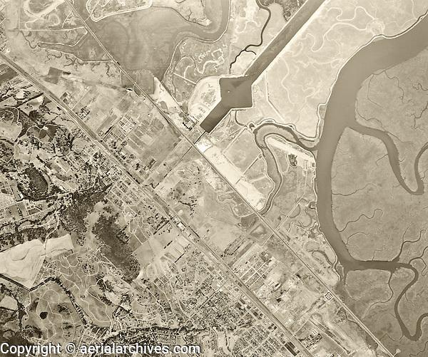 historical aerial photograph Redwood Shores, San Mateo county, California, 1946