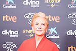 Actress Elena Irureta attends the red carpet previous to Goya Awards 2021 Gala in Malaga . March 06, 2021. (Alterphotos/Francis González)