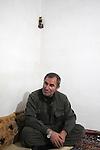 QANDIL, IRAQ:  Boozan Takin, a PKK guerrilla is interviewed by an Iraqi Kurdish journalist in the Qandil mountains...The Kurdistan Workers' Party (PKK) is a pro-Kurdish party in Turkey deemed a terrorist group by the USA and the EU.  They are based in the Qandil mountains that make up the border between Iraq and Turkey...Photo by Kamaran/Najm