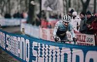 Evie Richards (GBR/TrekFactoryRacing) leading the race<br /> <br /> Women's race<br /> UCI CX World Cup Namur / Belgium 2017